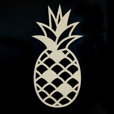 Houten Ananas wanddecoratie - Luxigo - Lasergesnden producten