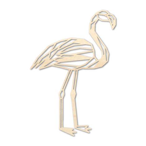 Houten Flamingo wanddecoratie - Luxigo - Lasergesnden producten