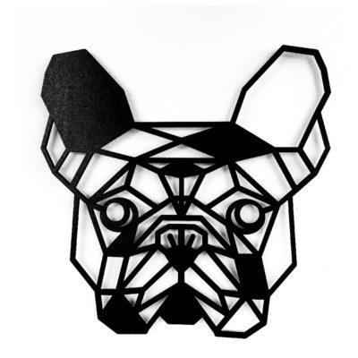 Houten Franse Bulldog wanddecoratie - Luxigo - Lasergesnden producten