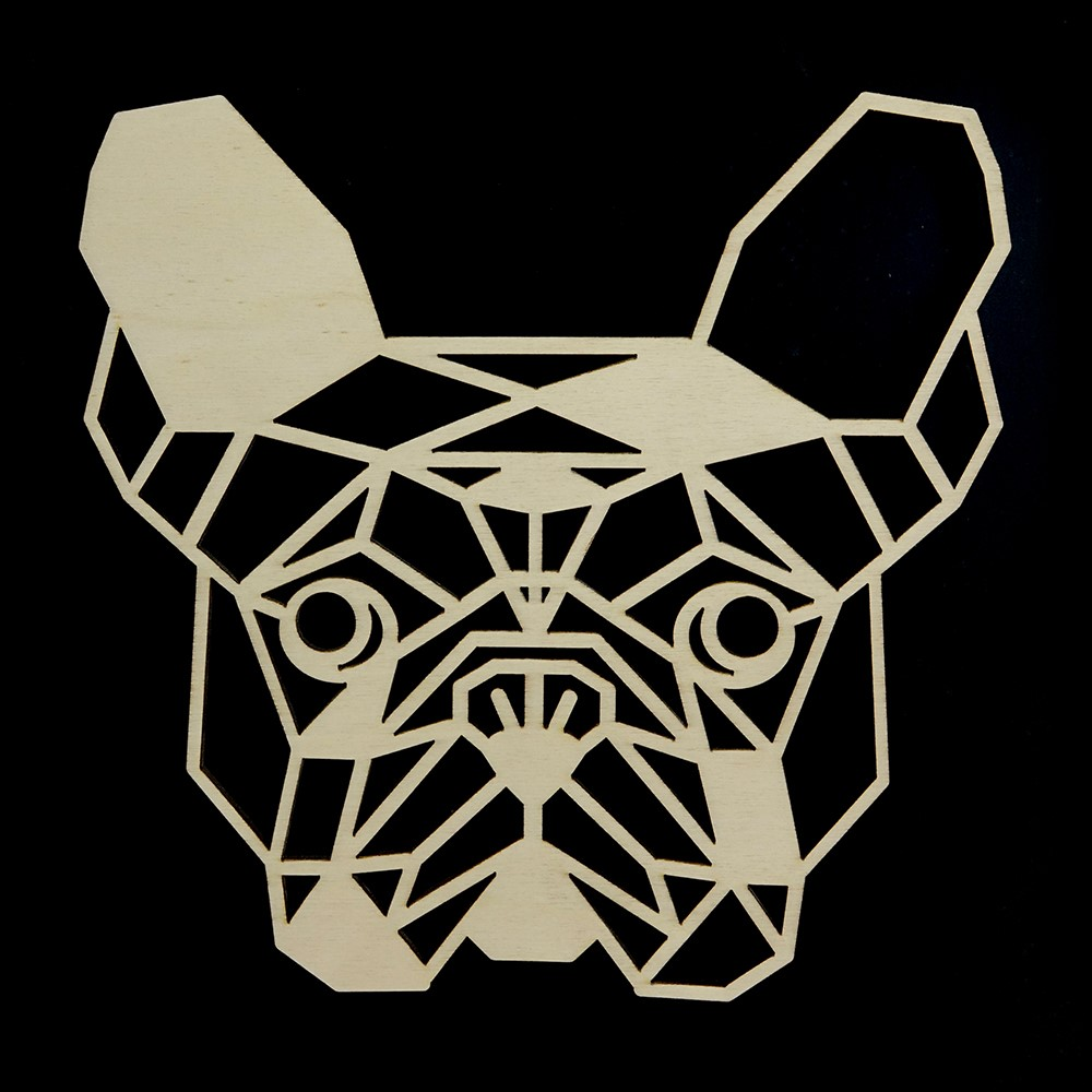 Houten Franse Bulldog