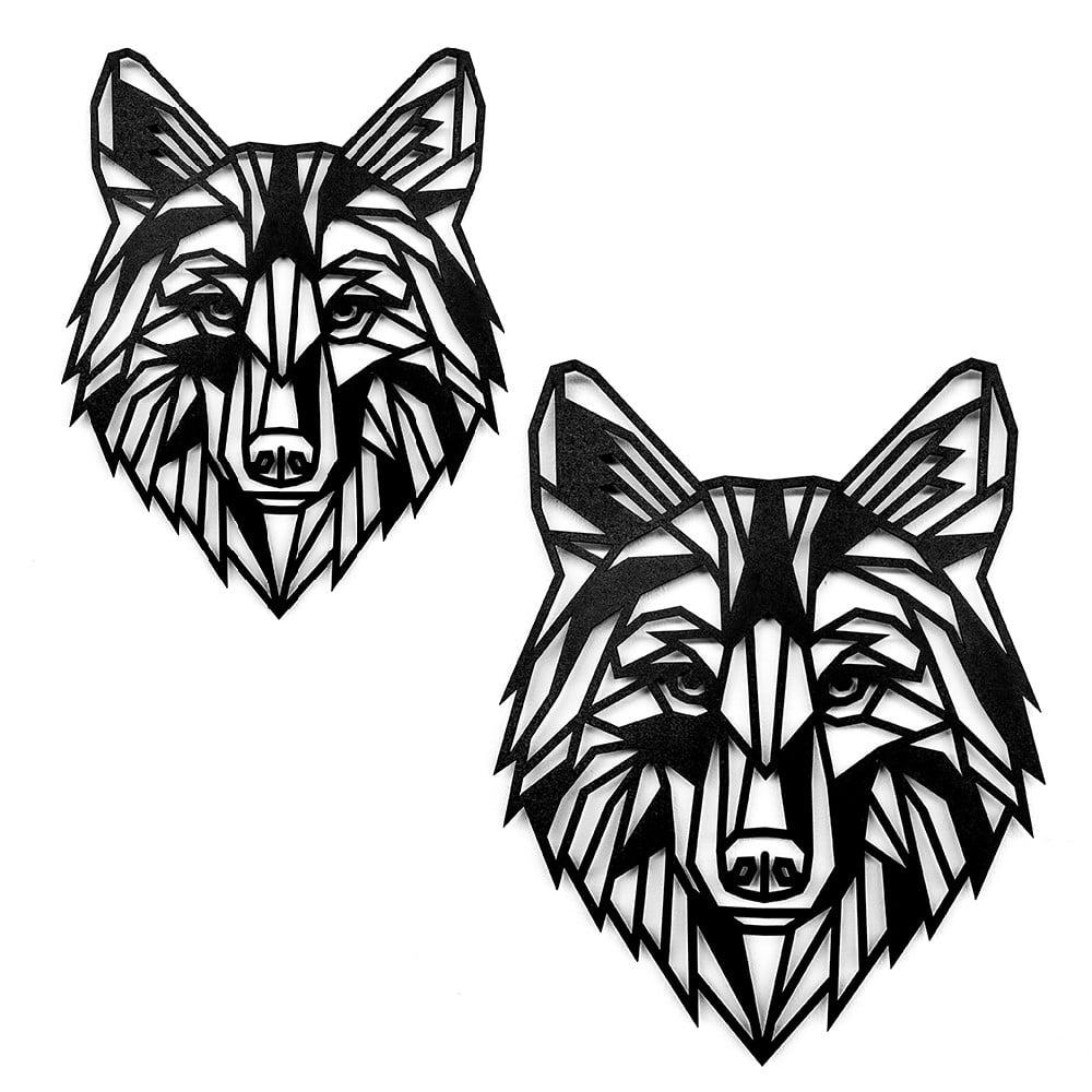 Houten Wolf wanddecoratie - Luxigo - Lasergesnden producten