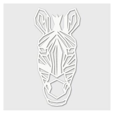 Houten Zebra wanddecoratie - Luxigo - Lasergesnden producten