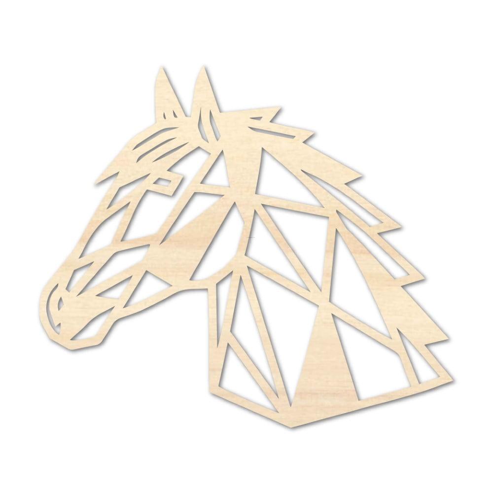 Houten Paard wanddecoratie - Luxigo - Lasergesnden producten