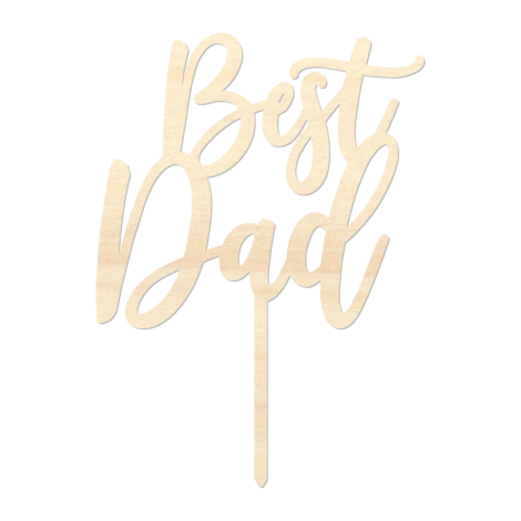 Best Dad - Caketopper Hout Wood