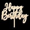 Happy Birthday - Caketopper Hout Wood