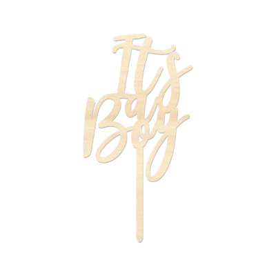 It's a Boy - Caketopper Hout Wood