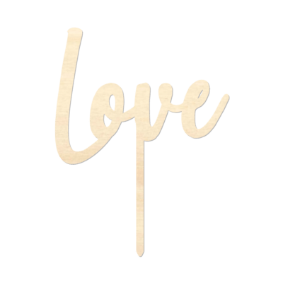 Love - Caketopper Hout Wood