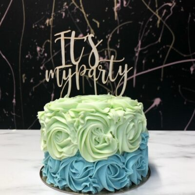 It's my Party - Caketopper Hout Wood