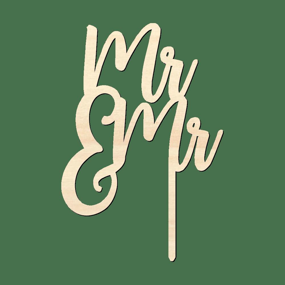 Mr & Mr - Caketopper Hout Wood