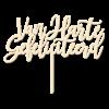 Van Harte Gefeliciteerd - Caketopper Hout Wood