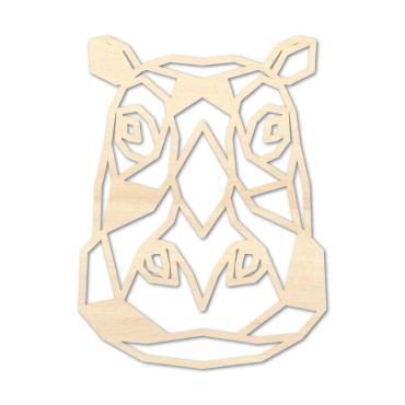 Houten Nijlpaard wanddecoratie - Luxigo - Lasergesnden producten