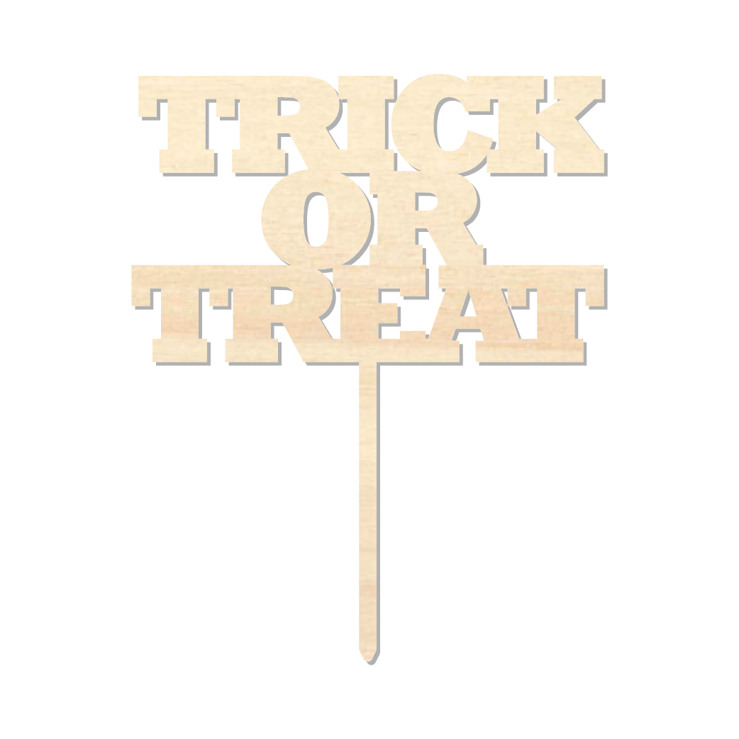 Trick or Treat - Caketopper Hout Wood_Tekengebied 1