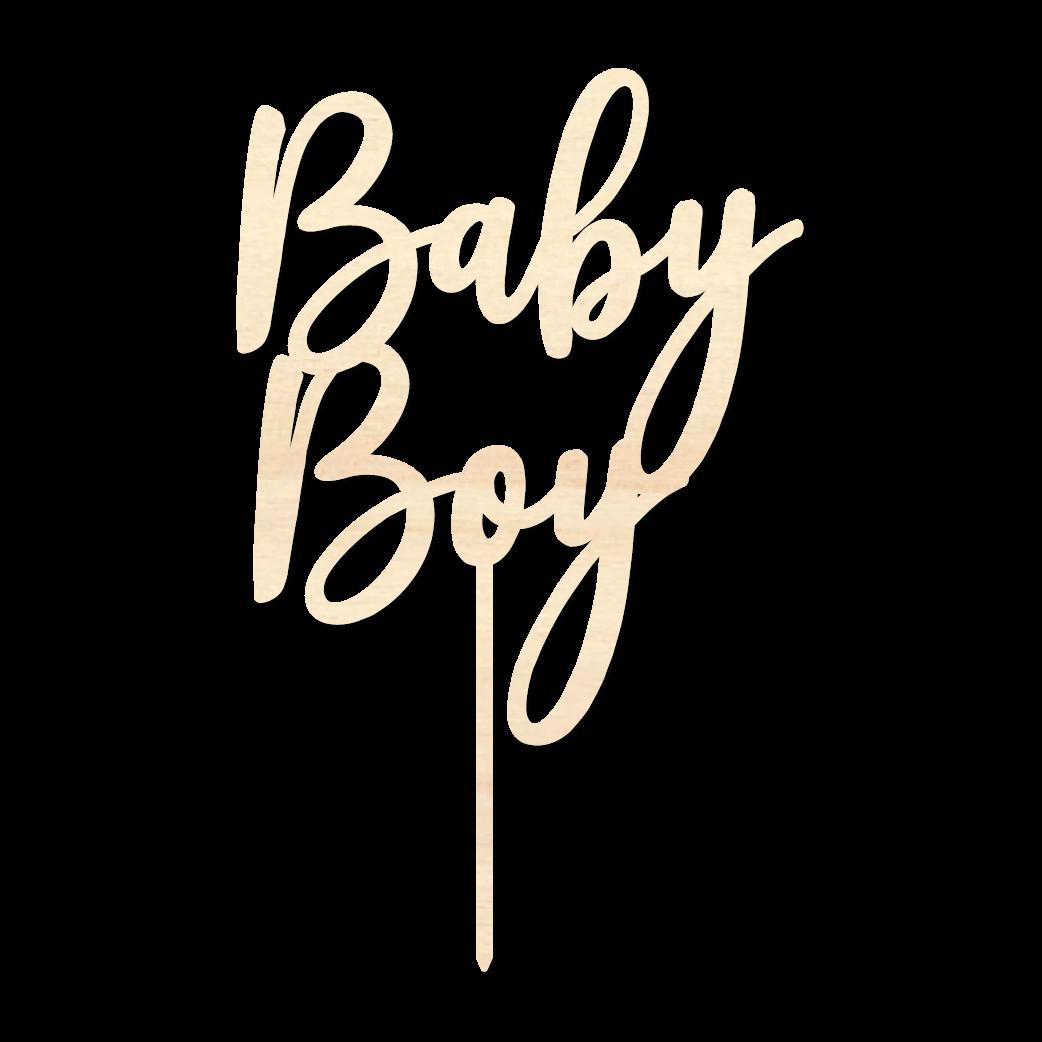 BabyBoy - Caketopper Hout Wood