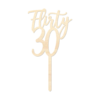 Flirty30 - Caketopper Hout Wood