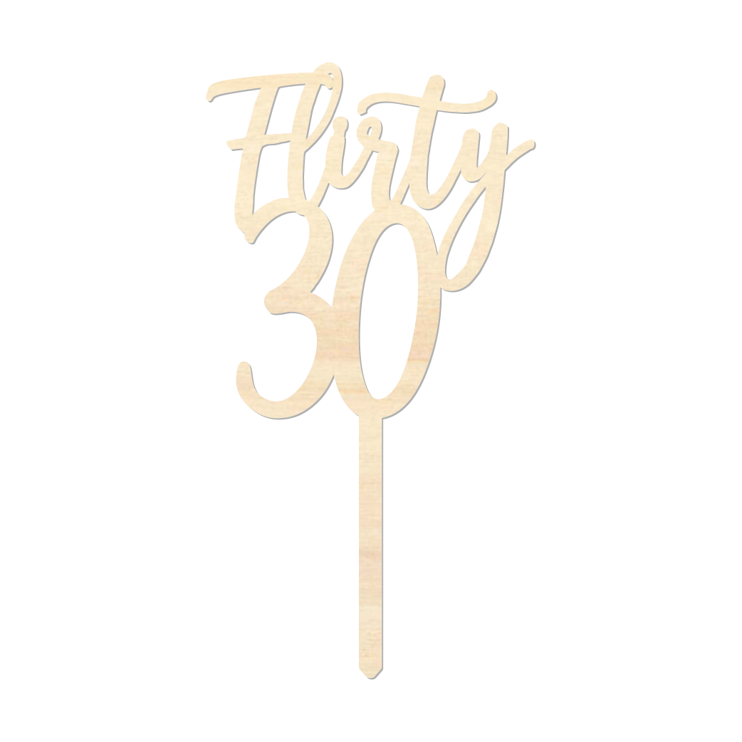 Flirty30 - Caketopper Hout Wood