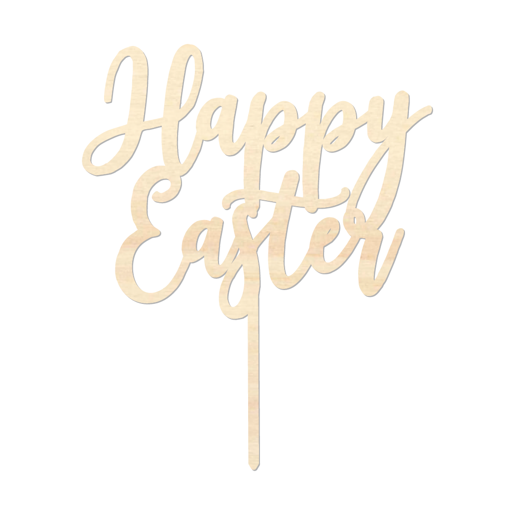 Happy Easter - Caketopper Hout Wood