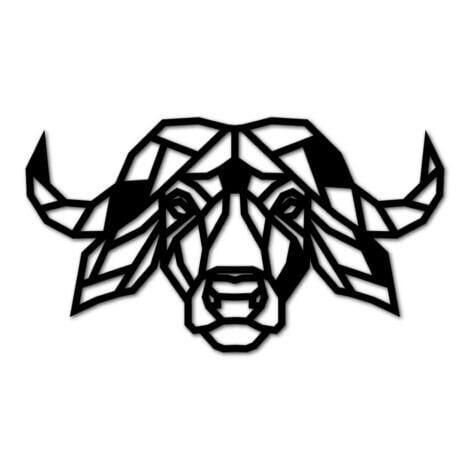 Luxigo - Buffel - Houten Dierenkop