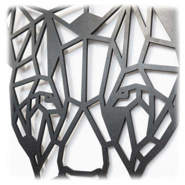 Luxigo - Luipaard zijkant - Houten Dierenkop