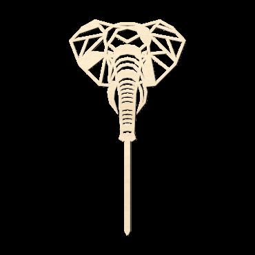 Houten caketopper Olifant